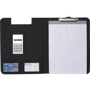 Csiptetős A/4 bőr mappa számológéppel
