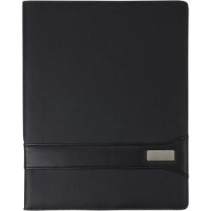 A/4 mappa jegyzettömbbel, párnázott PVC, fekete